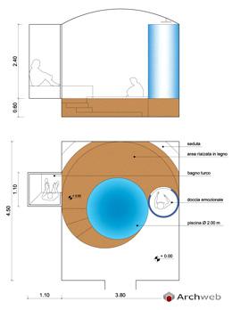 Docce solari - emozionali Autocad dwg / showers spa
