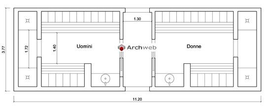 Area spogliatoi servizi autocad dwg spa baths for Arredi spogliatoi dwg