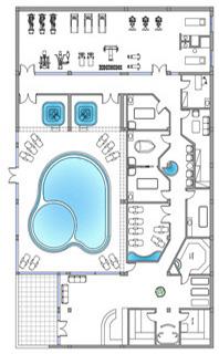 Centro benessere dwg wellness center drawings for Arredi spogliatoi dwg