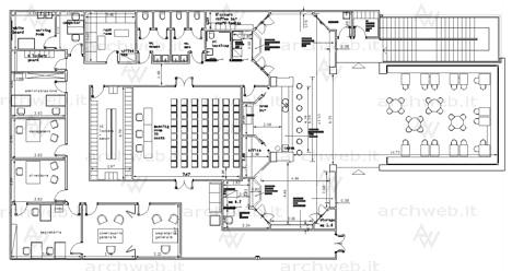 Centri culturali dwg for Come progettare una pianta del piano interrato