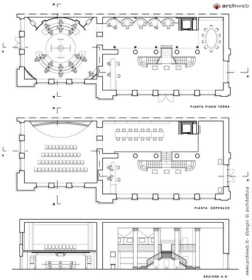 Dimensioni Sala Conferenze 100 Posti.Centri Culturali Dwg