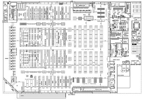 Ipermercati - progetti e schemi distributivi dwg