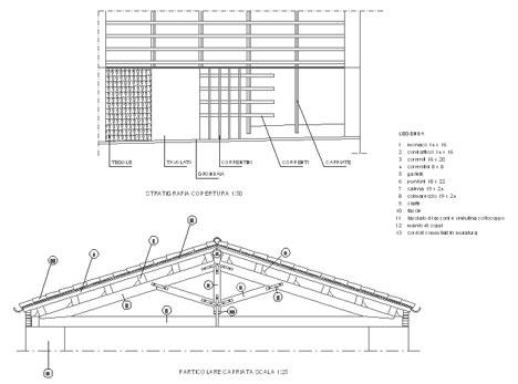 Sezioni legno dwg riparazioni appartamento for Sezione tetto in legno dwg