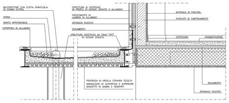 Coperture piane dwg for Sezione tetto giardino