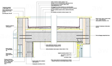 Finestre antisfondamento particolare copertura piana dwg for Sezione tetto in legno dwg
