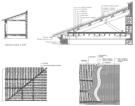 tetti in legno dwg roof dwg