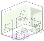 Bagni per persone disabilii accessibilit dwg - Misure bagno minimo ...
