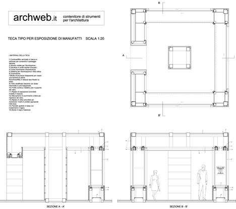 Espositori teche dwg for Archweb porte