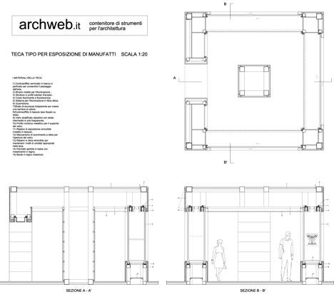 Espositori teche dwg for Porte archweb