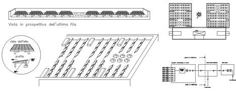 Particolari costruttivi impianto fotovoltaico dwg for Schema impianto solare termico dwg