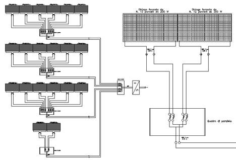 Schema unifilare fotovoltaico dwg