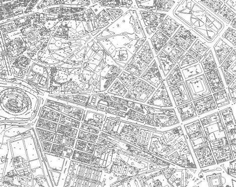 Cartografia in dwg roma for Google planimetria