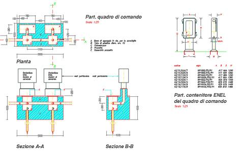 Quadro elettrico dwg for Dwg simboli elettrici