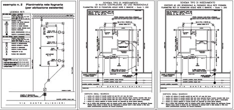 Impianti fognari dwg - Tubo gas interrato ...