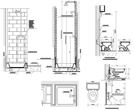 schema di impianto idraulico per un bagno