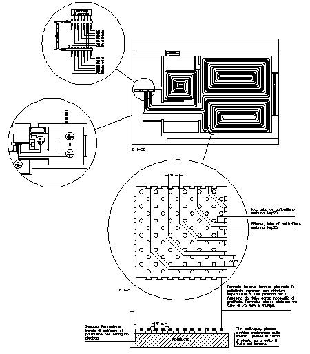 Sistemi radianti dwg pavimentazione pannelli radianti for Radiatori dwg
