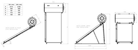 Pannello solare termico dwg terminali antivento per for Schema impianto solare termico dwg