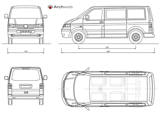 Minivan dwg Autocad drawings
