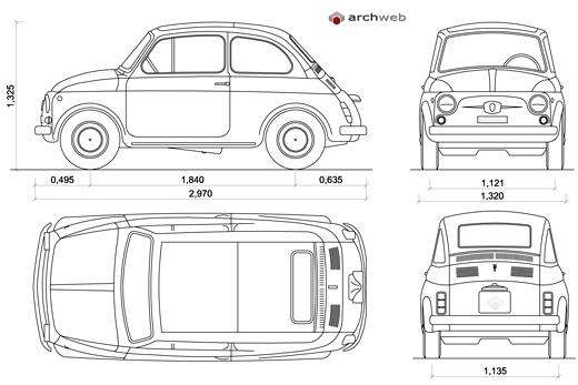 Vecchia Fiat 500 F 1966