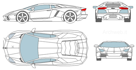 Lamborghini Veneno Drawing Outline