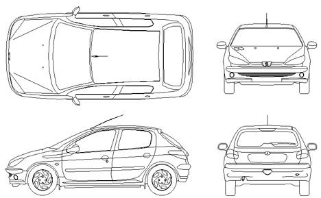 Peugeot cad dwg for Porte archweb