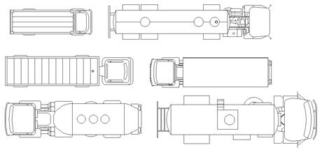 Camion dwg for 3 dimensioni del garage di stallo