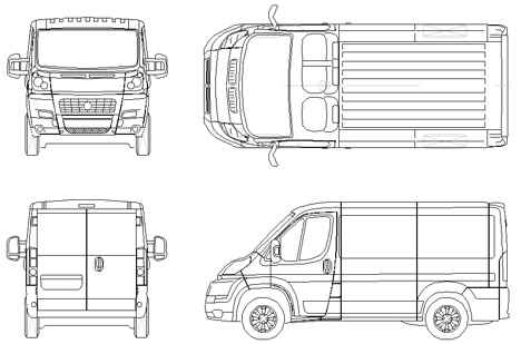 Transport vans on fiat ducato