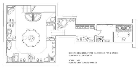 negozio accessori per bagno dwg - Arredo Bagno Dwg