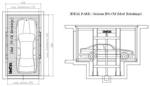 Ideal park parcheggi meccanizzati ascensori auto dwg for Disegni di garage rv