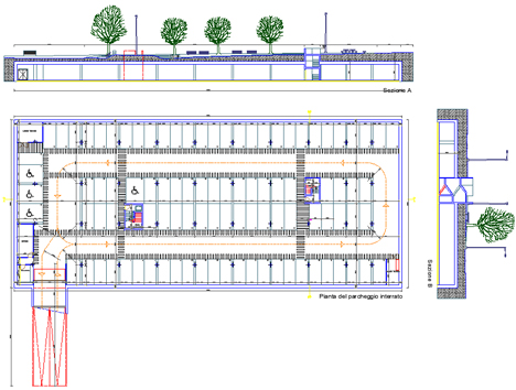 Parcheggi 9 schemi parcheggi multipiano - Garage interrato ...