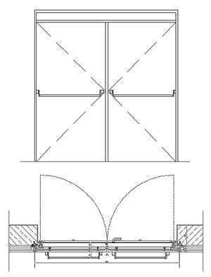 Porte tagliafuoco tipo rei dwg for Porte 3d dwg
