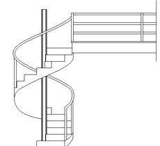 Scale circolari 2d for Scala in legno dwg