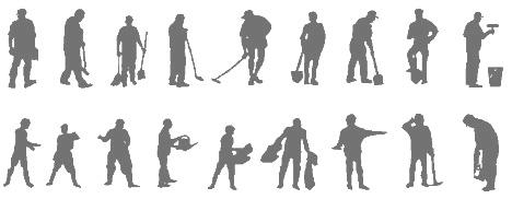 Figure Di Persone Stilizzate.Operai Al Lavoro Operai Dwg Workers Dwg