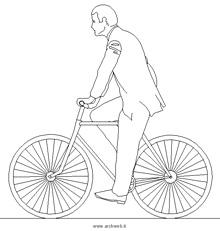 Persone In Bicicletta Dwg People Bike Drawings