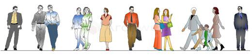Figure Di Persone Stilizzate.Figure Umane Persone Dwg