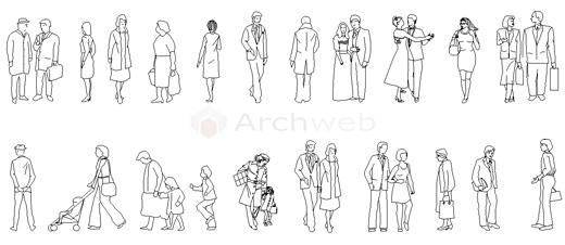 Figure umane persone dwg for Sedute dwg
