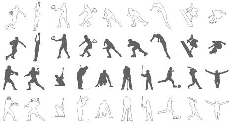 Sportivi - atleti dwg - giocatori sport: www.archweb.it/dwg/persone/persone_pag_5/persone_5.htm