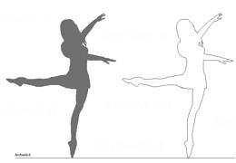 Disegni Di Ballerine Da Disegnare : Ginnastica danza ballerine dwg dance people