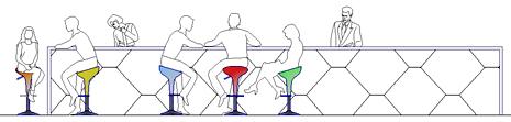 Persone sedute dwg for Tavoli ristorante dwg