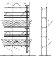 Ponteggi cantiere dwg impalcature cantiere dwg for 3 dimensioni del garage di stallo