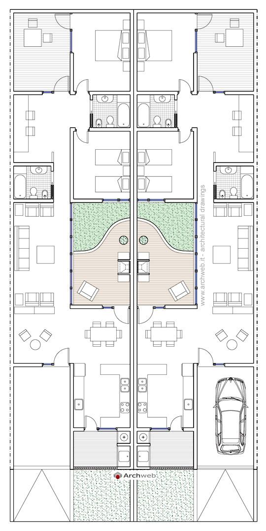 Residenze a patio 4 for Arredi design dwg