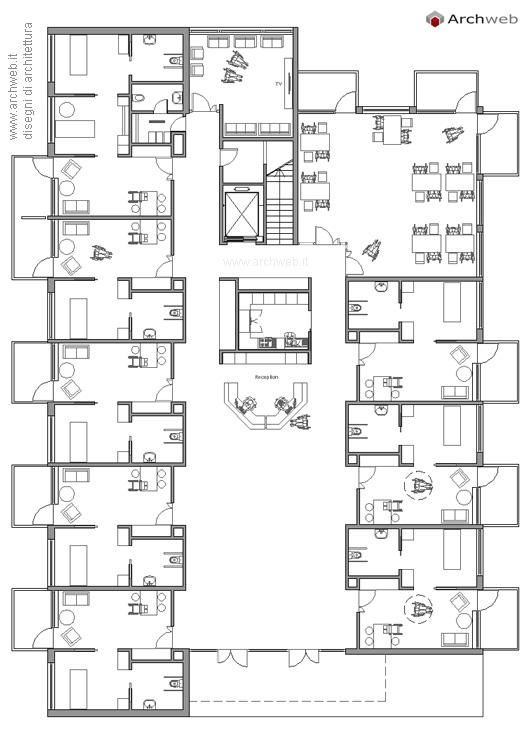 Casa di riposo alloggi per anziani dwg for Design di casa residenziale