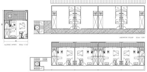 Tipologia a ballatoio dwg case a ballatoio case duplex for Ville architetti famosi