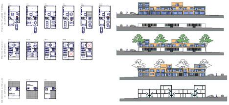 Villette a schiera dwg for Esempi progetti ville