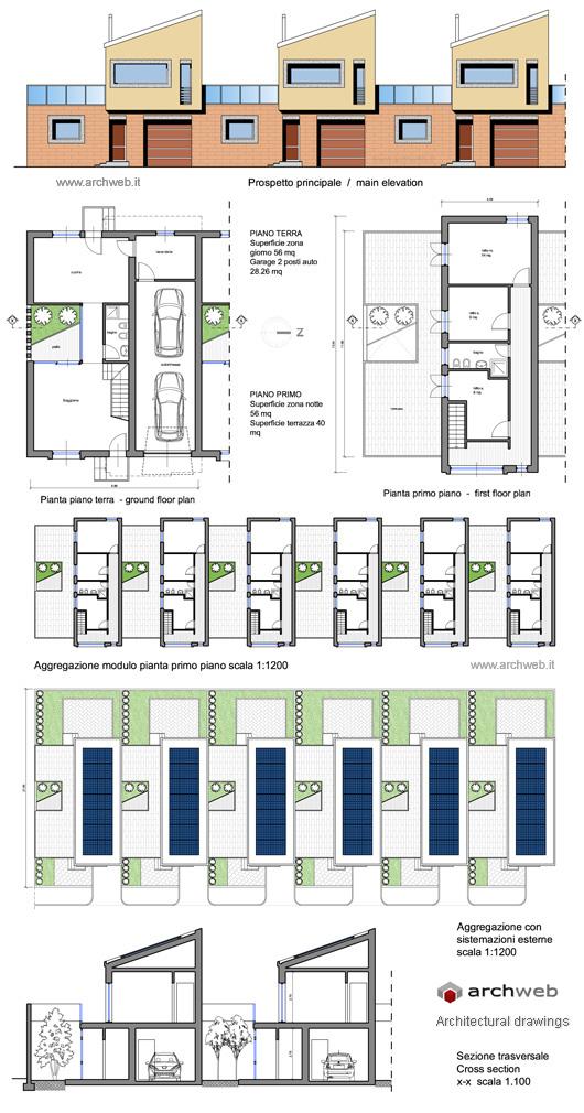 Case a schiera con patio - Casa a schiera progetto ...