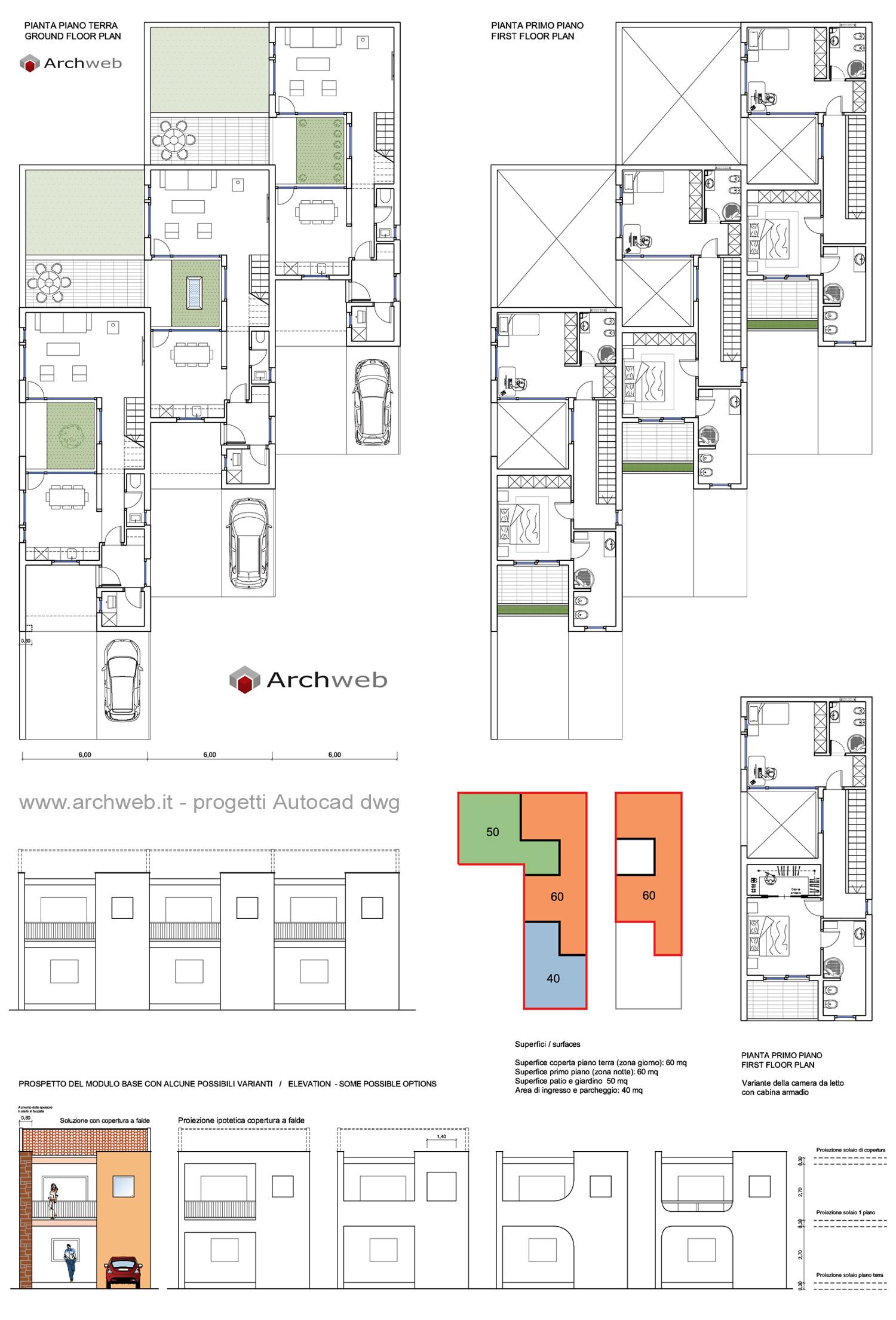 Progetti case piano terra casa con progetto di in olcio - Casa a schiera progetto ...