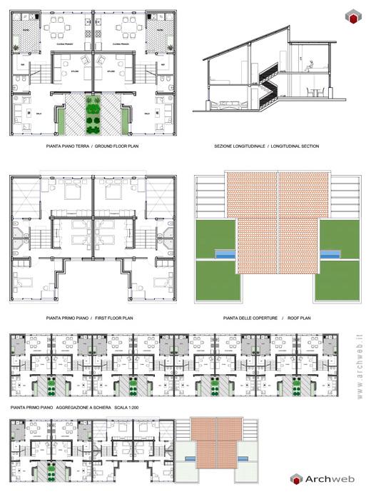 Bifamiliare con possibile aggregazione a schiera for Piani di progettazione di case a schiera