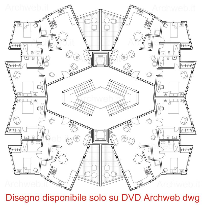 Residenze a torre torri residenziali dwg for Archweb uffici