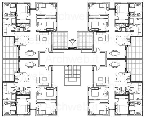 Tipologia edilizia residenziale in linea for Archweb uffici