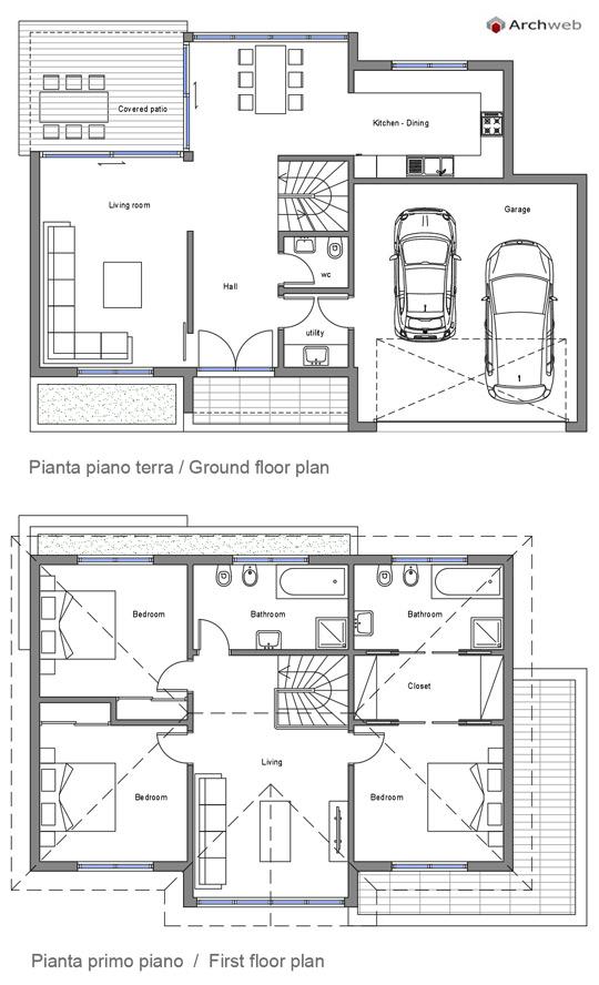 Progetto abitazione unifamiliare - Progetto completo casa unifamiliare ...